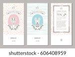 trendy packaging design with... | Shutterstock .eps vector #606408959