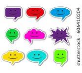 vector speach bubbles... | Shutterstock .eps vector #606410204