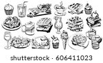 vector set art with foods and...