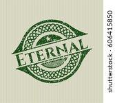 green eternal distress rubber...   Shutterstock .eps vector #606415850