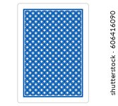 playing card blue back | Shutterstock .eps vector #606416090