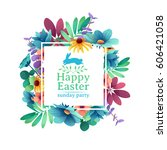 banner design template with... | Shutterstock .eps vector #606421058