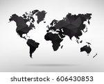 vector world map illustration   ... | Shutterstock .eps vector #606430853