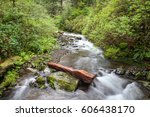 flowing creek along the hiking... | Shutterstock . vector #606438170