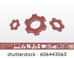gear icon vector eps10   Shutterstock .eps vector #606443063