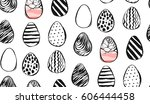hand drawn vector abstract... | Shutterstock .eps vector #606444458