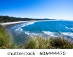 A Vivid Blue Surf Along The...