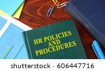 book with title hr policies and ... | Shutterstock . vector #606447716