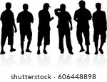 silhouette of a man. | Shutterstock .eps vector #606448898