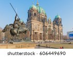Stock photo beautiful view of historic berlin cathedral berliner dom at famous museumsinsel museum island 606449690