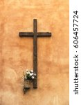 Old Wooden Christian Cross On ...