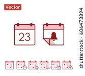 calendar organize events  | Shutterstock .eps vector #606473894