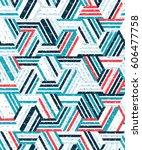 abstract seamless pattern of a... | Shutterstock .eps vector #606477758