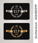 vip golden and platinum card  ... | Shutterstock .eps vector #606480599