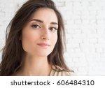 young beautiful woman day light ... | Shutterstock . vector #606484310