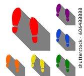 imprint soles shoes sign. set...