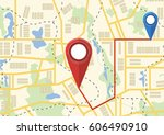 map. the concept of navigation. ... | Shutterstock .eps vector #606490910