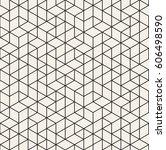 vector seamless pattern. modern ... | Shutterstock .eps vector #606498590