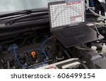 professional car mechanic... | Shutterstock . vector #606499154