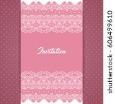 greeting card or invitation... | Shutterstock . vector #606499610