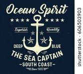 ocean spirit  the sea captain ... | Shutterstock .eps vector #606503903