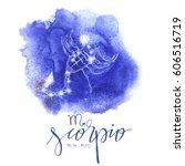 astrology sign scorpio   Shutterstock .eps vector #606516719