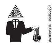 illuminati conspiracy theory... | Shutterstock .eps vector #606520304