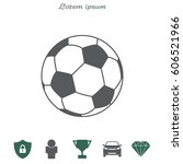 soccer  football  ball icon....   Shutterstock .eps vector #606521966