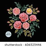 beautiful vintage flowers... | Shutterstock .eps vector #606525446