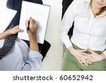 psychiatrist with patient   Shutterstock . vector #60652942