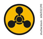 chemical weapon warning  hazard ... | Shutterstock .eps vector #606532190
