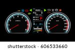Car Dashboard Vector...
