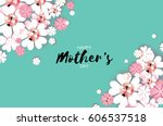 happy mothers day. brilliant... | Shutterstock .eps vector #606537518