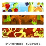 set of a header background d | Shutterstock .eps vector #60654058
