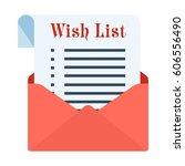 wish sheet in a red festive... | Shutterstock .eps vector #606556490