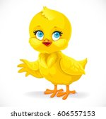 Cute Baby Chick Shows A Side...