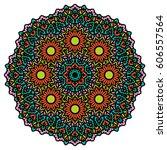 mandala. vector ethnic oriental ... | Shutterstock .eps vector #606557564