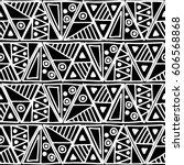 seamless vector pattern. black... | Shutterstock .eps vector #606568868