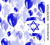 israel independence day... | Shutterstock .eps vector #606587024