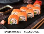 Philadelphia Roll Sushi With...