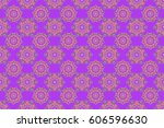 purple  blue and yellow... | Shutterstock . vector #606596630