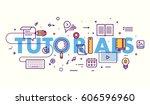 thin line flat design banner... | Shutterstock .eps vector #606596960