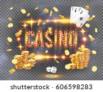 the word casino  surrounded by... | Shutterstock .eps vector #606598283