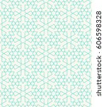 seamless geometric pattern of... | Shutterstock .eps vector #606598328