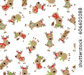 Seamless Cartoon Reindeer
