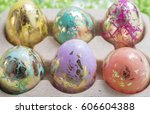 Foiled And Colorful Easter Egg...