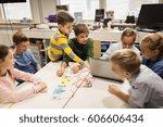 education  children  technology ... | Shutterstock . vector #606606434