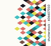 rhombus background. geometric... | Shutterstock .eps vector #606607010