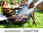 leisure  food  people and... | Shutterstock . vector #606607586