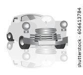 retro car on white easy to... | Shutterstock .eps vector #606613784